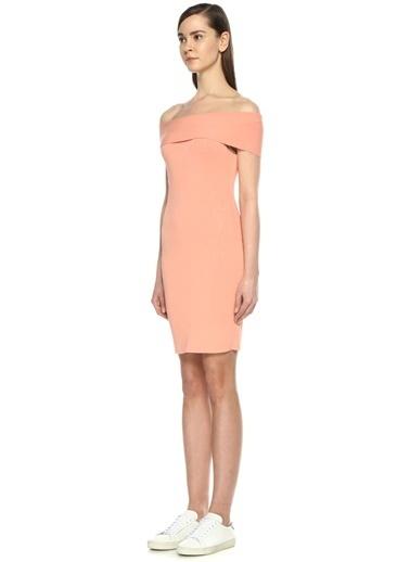 T By Alexander Wang Kayık Yaka Dar Mini Elbise Pembe